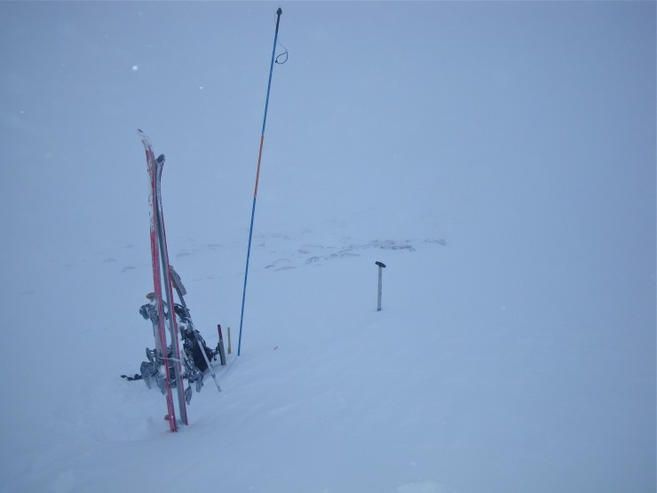 Poor visibility, this was on a SE aspect at 1080m