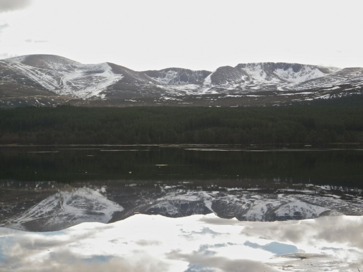 Northern Corries reflection from Loch Morlich