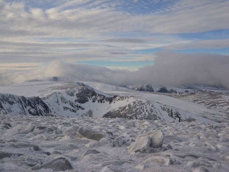 Looking toward the West from Cairngorm summit.