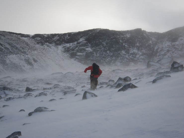 Looking towards Mess of potage Coire an t-Sneachda.