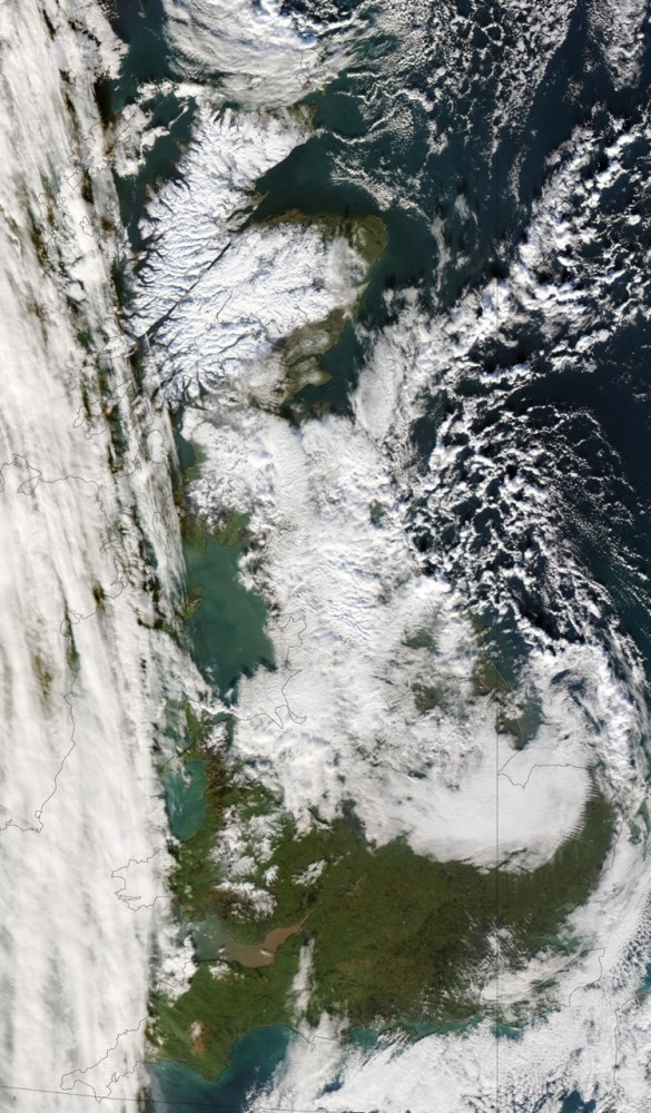 A great shot from NASA's  - orbiting Aqua satellite. Source : Met Office National Climate Information Centre