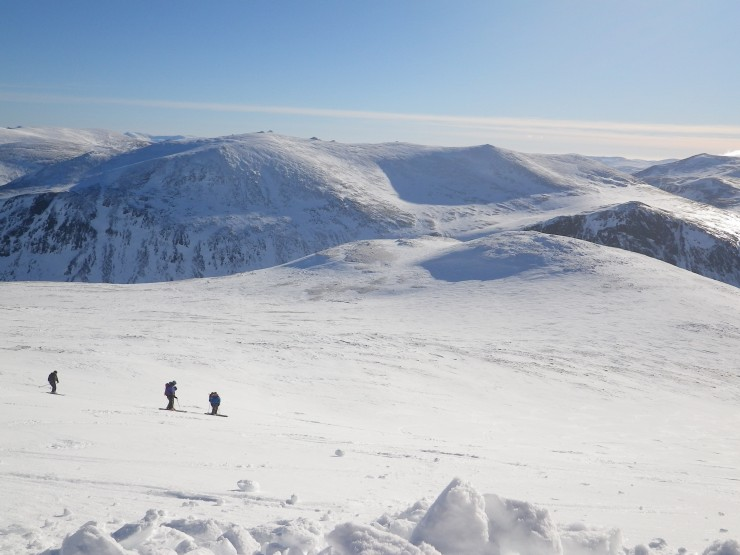 Looking down the South Side of Cairngorm