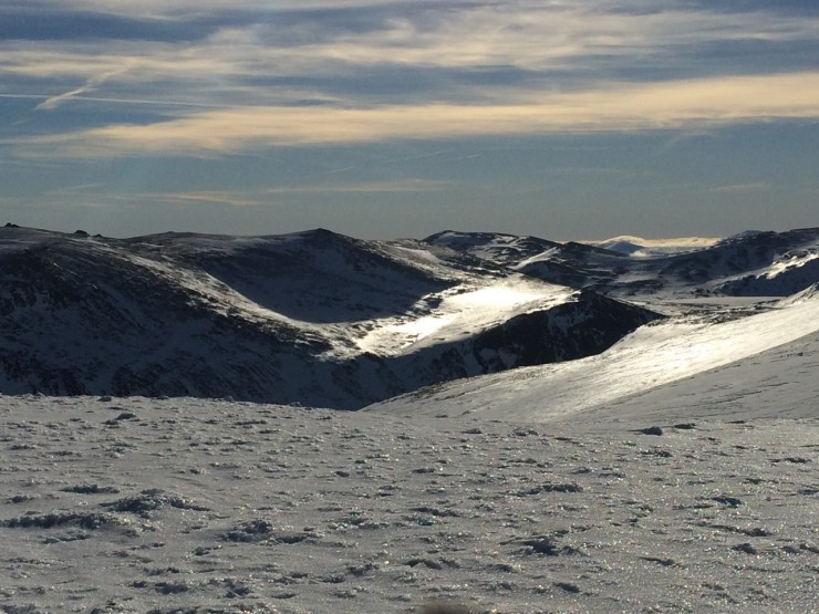 Looking toward loch etchahchan and derry Cairngorm from Cnap Coire na Spreidhe