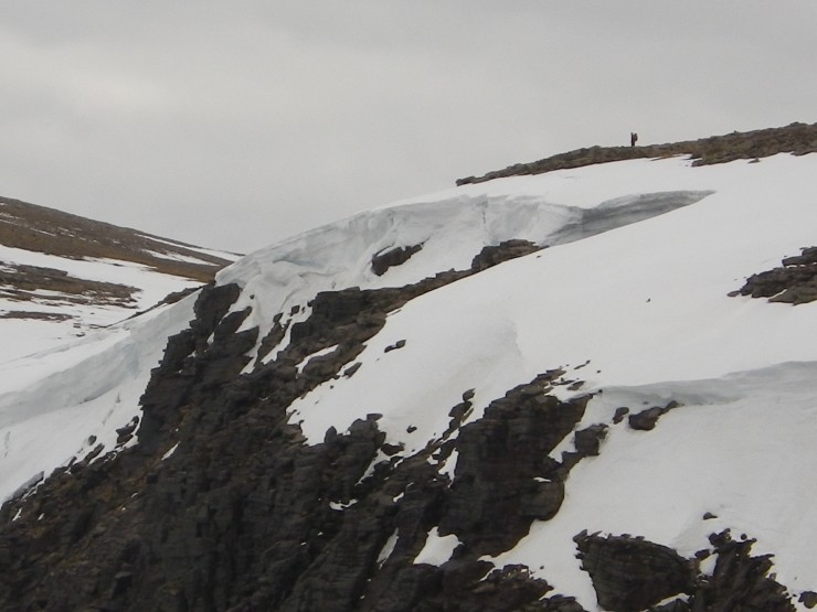 Remnants of old cornices at the top of Hell's Lum