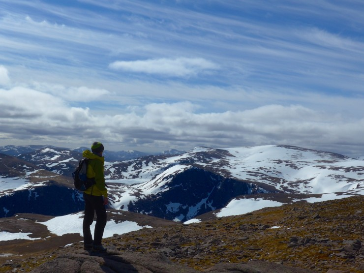 Looking toward Ben Macdui   from the barn of cairngorm