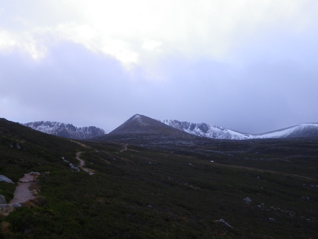 Looking up towards the Northern Corries
