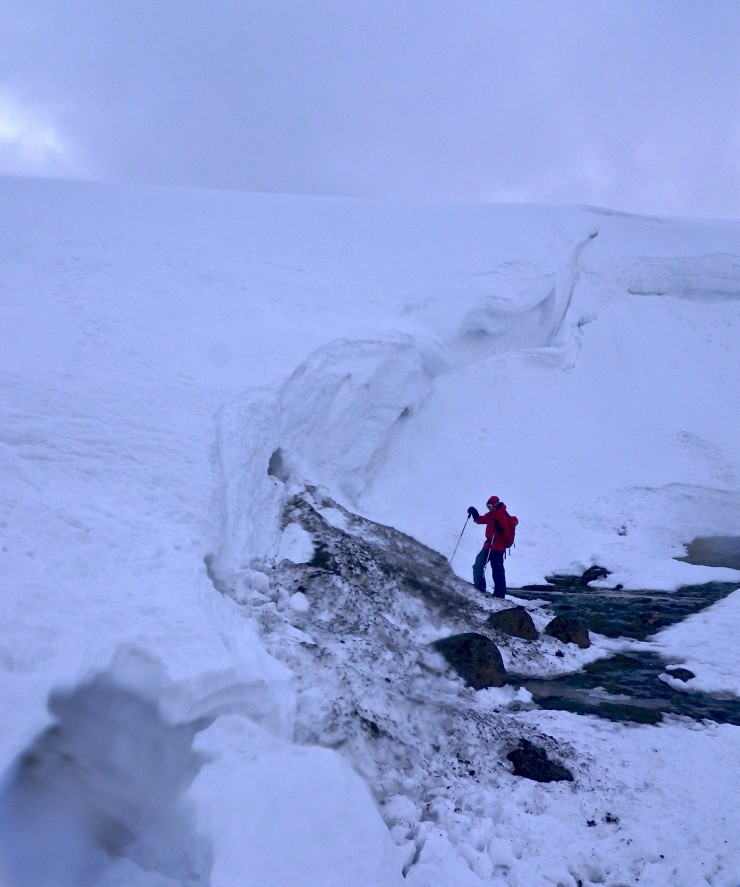 Big drooping cornices in Ciste Mhearad