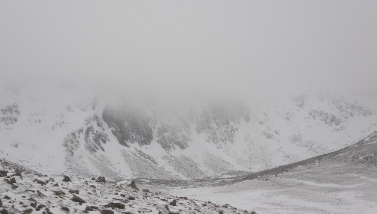 Sneachda looking quite bare after yesterdays snow storm.
