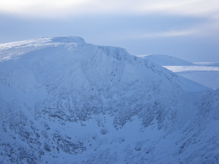 Climbers on the Fiachaill Buttress