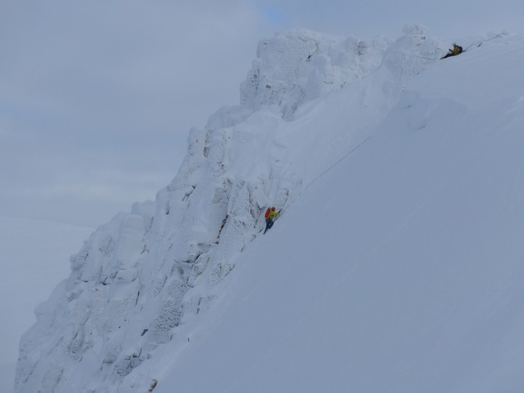 climbers topping out