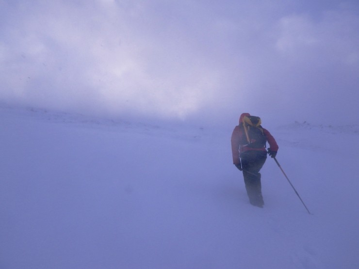 Heading up into a blizzard