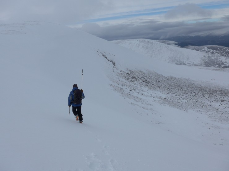 on the headwall of coire chais