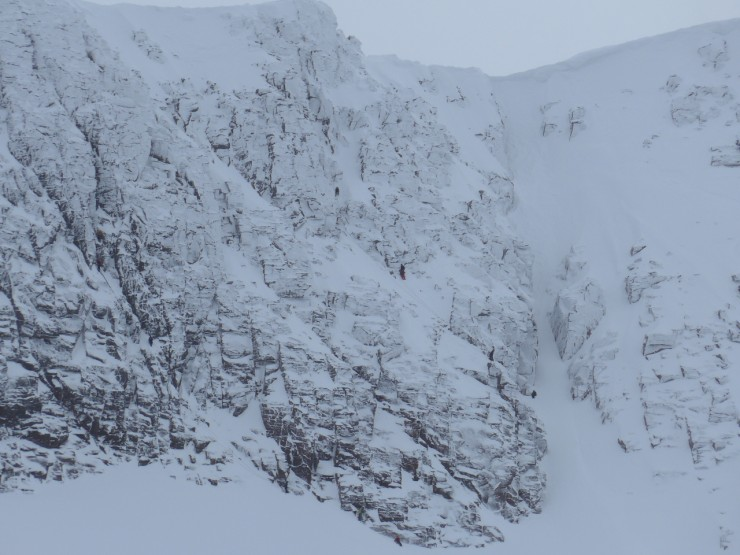 climbers on Mess of Pottage Sneachda