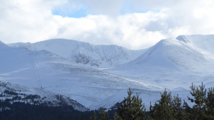 Northern Corries in afternoon light