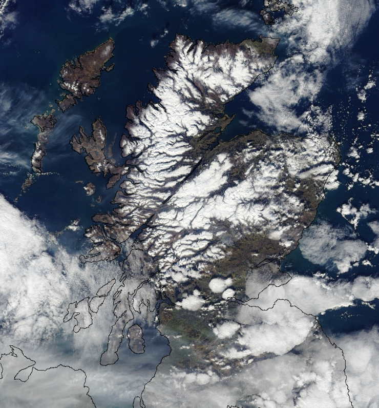 A stunning satellite image courtesy of the National Climate Information Centre - Met Office . Copyright Met Office / NOAA