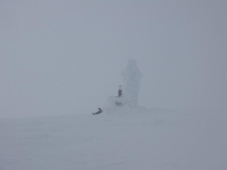 An ice encrusted summit weather station. Cairngorm. The first thing I saw.