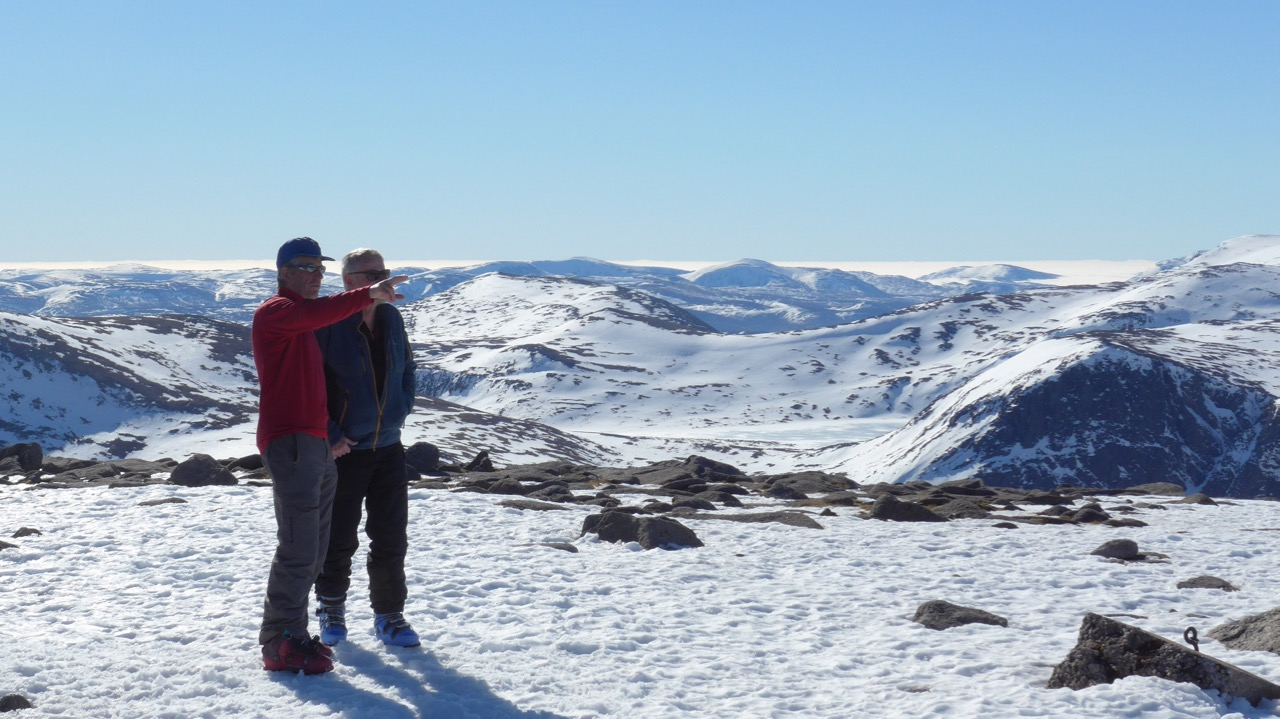 Taking in the view from Cairngorm