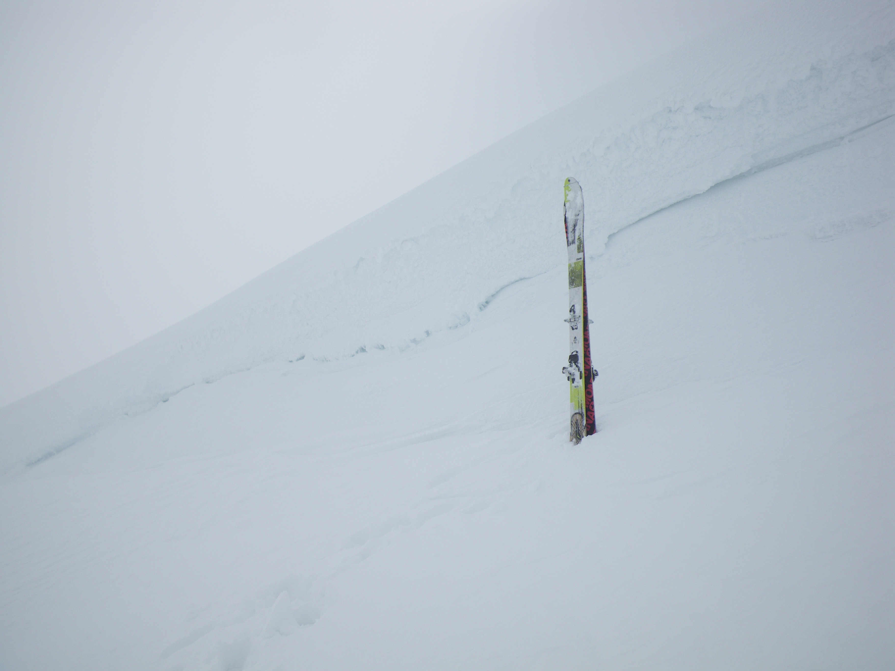 Accumulations of fresh windslab below cornices on Northerly aspects