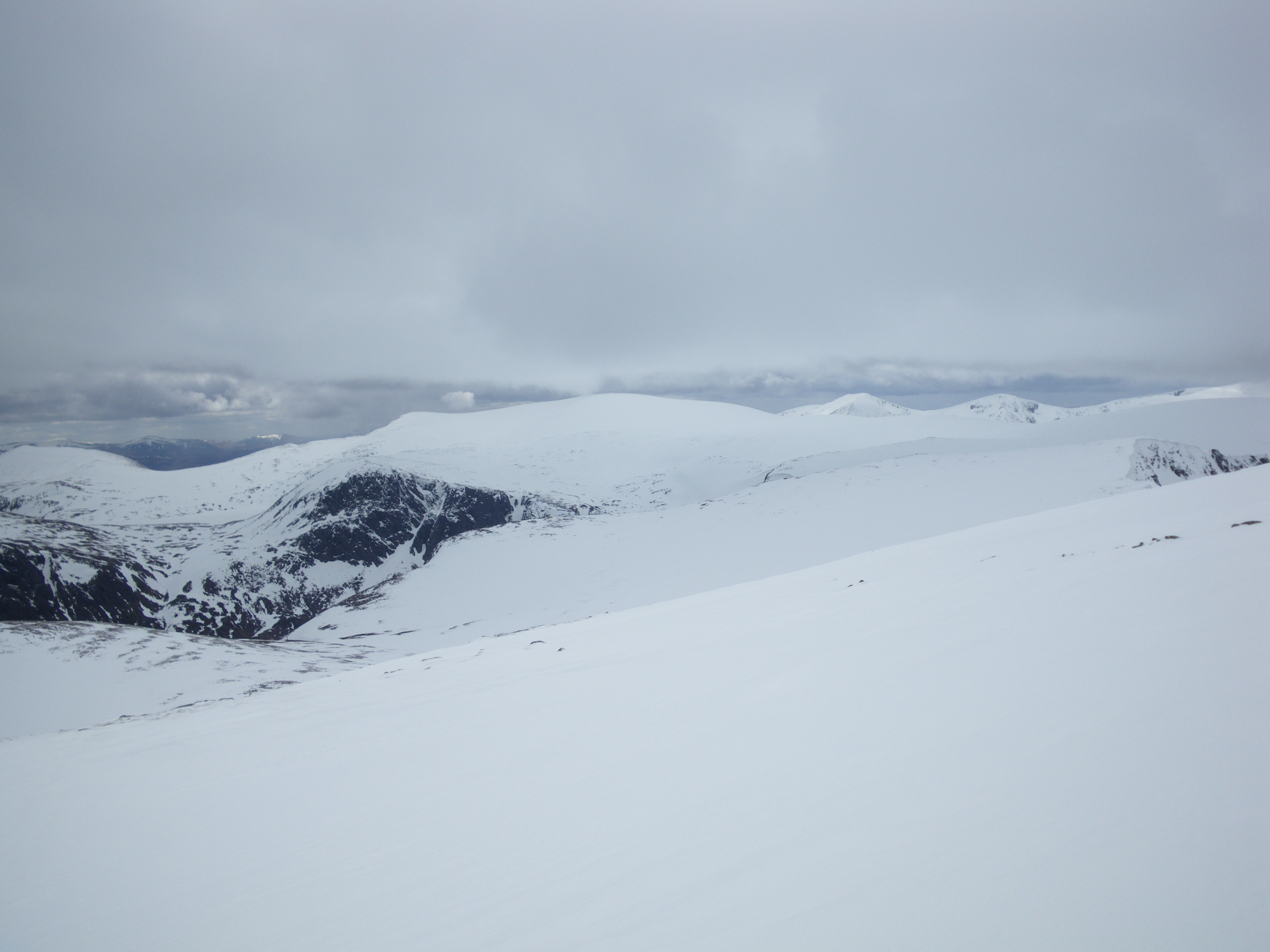Cairngorm plateau with Ben Macdui in the distance