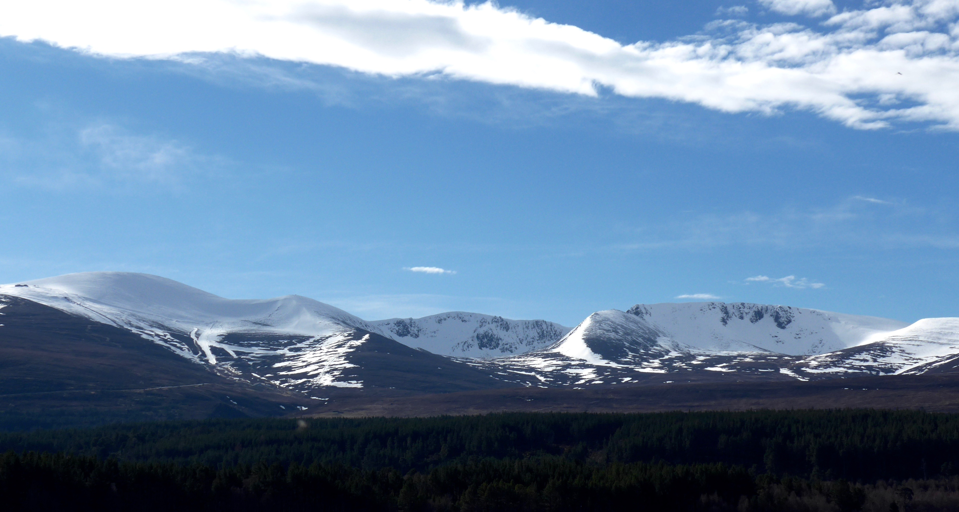 The Northen Corries from Loch Morlich in morning light