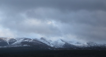 Cloudy and Windy but good Snow cover persists in places