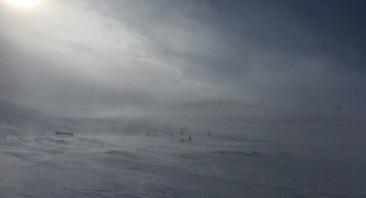 Wind and snow