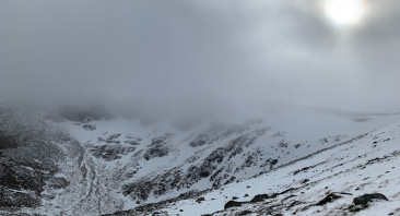 Cloudy, Windy and Cold on the Tops